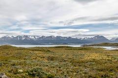 Wyspy i gór widok w Beagle kanale - Ushuaia, Tierra Del Fuego, Argentyna Zdjęcia Royalty Free