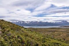 Wyspy i gór widok w Beagle kanale - Ushuaia, Tierra Del Fuego, Argentyna Obrazy Royalty Free