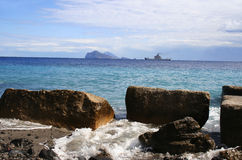 wyspy Italy lipari widok obrazy royalty free