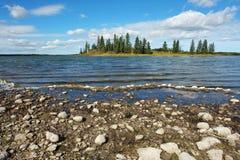 wyspy jeziora Fotografia Stock