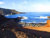 Wyspy Kanaryjska podróż barwi morze zdjęcie royalty free