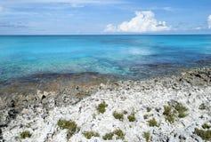 Wyspy Karaibskiej Skalista linia brzegowa fotografia stock
