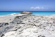 Wyspy Karaibskiej Skalista plaża Obrazy Royalty Free