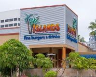 Wyspy Karzą grzywną hamburgery & napoje Zewnętrznych Zdjęcie Royalty Free