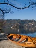 wyspy kościelny jezioro Obrazy Royalty Free