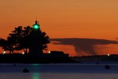 wyspy koźlia latarnia morska Newport Fotografia Royalty Free