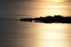 wyspy lindau zmierzch obraz royalty free