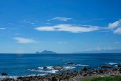 wyspy linię brzegową kokosowy żółwia washedup Zdjęcia Stock
