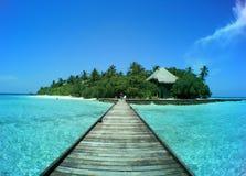 wyspy Maldivian rannalhi Zdjęcie Royalty Free