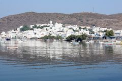 wyspy milos portowy miasteczko Obraz Royalty Free