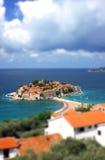 wyspy Montenegro Stefan sveti Zdjęcia Royalty Free