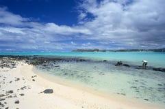wyspy podpalana błękitny laguna Mauritius Obraz Royalty Free