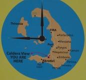 Wyspy santorini, apronissi i tirassia, fotografia stock