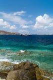 wyspy santorini panoramiczny widok Zdjęcie Royalty Free