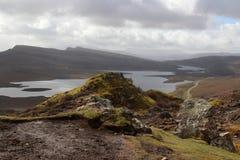 wyspy Scotland skye trotternish ridge Fotografia Stock