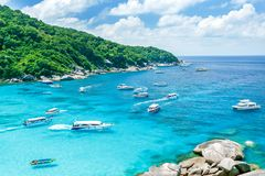 wyspy similan Thailand tropikalny krajobrazu Podróż w Azja pojęciu landmark zdjęcia stock