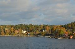 Wyspy Szwecja w morzu bałtyckim obraz stock