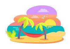 Wyspy Tropikalna Podróżna Wektorowa ilustracja royalty ilustracja