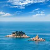 Wyspy w Adriatyckim morzu, Montenegro Fotografia Royalty Free