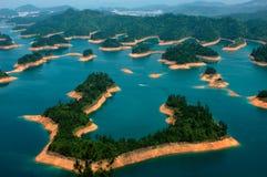 Wyspy w jeziorze Zdjęcia Royalty Free