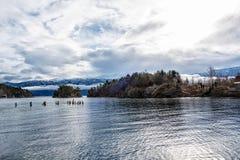 Wyspy w Norweskim fjord Obrazy Stock