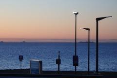 Wyspy w północnym morzu na horyzoncie od promu terminal Zdjęcie Royalty Free