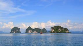 Wyspy w zatoce Siam, Tajlandia Obraz Stock