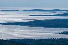 Wyspy Z wybrzeża Maine Blisko Mt Pustynnej wyspy fotografia stock