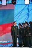 Występów artyści, żołnierzy soliści i chór tana zespół westernu militarny okręg i piosenka Obraz Royalty Free
