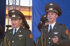 Występów artyści, żołnierzy soliści i chór tana zespół westernu militarny okręg i piosenka Obrazy Stock