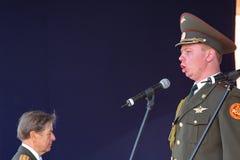 Występów artyści, żołnierzy soliści i chór tana zespół westernu militarny okręg i piosenka Zdjęcie Stock