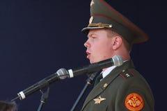 Występów artyści, żołnierzy soliści i chór tana zespół westernu militarny okręg i piosenka Zdjęcie Royalty Free