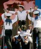 Występów artyści, żołnierzy soliści, tancerze piosenka i tana zespół westernu militarny okręg, Obraz Royalty Free