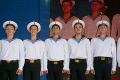 Występów artyści, żołnierzy soliści, tancerze piosenka i tana zespół westernu militarny okręg, Fotografia Royalty Free