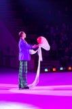 Występ błazen Moskwa cyrk na lodzie na wycieczce turysycznej Obrazy Stock