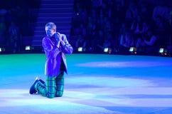 Występ błazen Moskwa cyrk na lodzie na wycieczce turysycznej Zdjęcia Stock