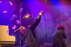 Występ Billy zespół przy koncert grze Tom Waits obraz royalty free