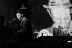 Występ Billy zespół w Erarta dzisiejszej ustawy muzeum zdjęcia royalty free