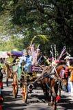 Występ kultury nganjuk rocznicowy karnawałowy miasto, Wschodni Jav Obraz Royalty Free