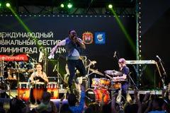 Występ kwacza kwacza międzynarodowo festiwal jazzowy Obraz Royalty Free
