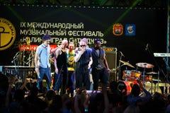 Występ kwacza kwacza międzynarodowo festiwal jazzowy Zdjęcie Royalty Free