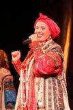 Występ na scenie krajowy śpiewak ludowy rosyjski piosenki nadezhda babkina i theatre rosjanina piosenka Obrazy Royalty Free