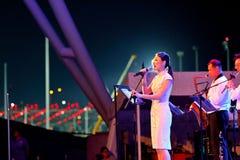 Występ przy esplanadą Singapur Obraz Stock