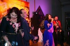 Występ taniec Yar Priozersk i wokalnie Cygański zespół Zdjęcia Royalty Free