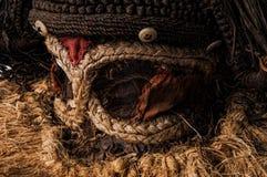 występować samodzielnie maska z afryki Fotografia Royalty Free