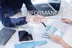Występu wskaźnik na wirtualnym ekranie Kpi Biznesowa Wzrostowa strategia Fotografia Stock