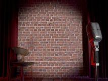 Występujący solo komedii scena Obrazy Royalty Free