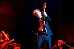 Występ przy Dcode festiwalem Beck legendarny muzyk, piosenkarz i kompozytor (,) Obrazy Stock