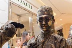 Występ sztuka, Bronzemen Fotografia Stock