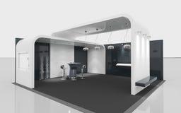 Wystawa czarny i biały stojak Zdjęcia Royalty Free